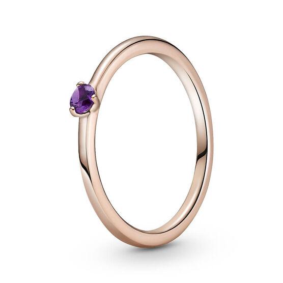 Pandora Purple Solitaire CZ Ring