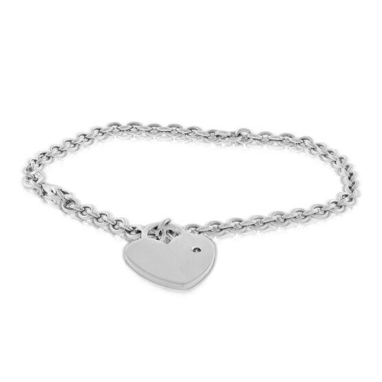 Heart Charm Bracelet 14K