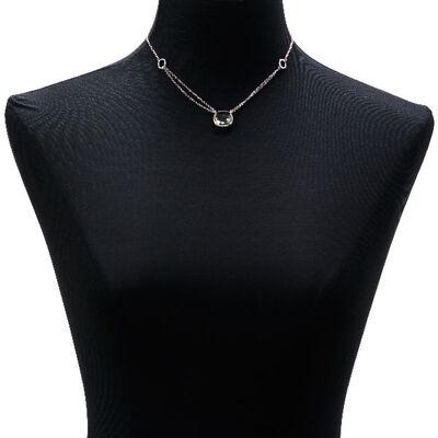 Lisa Bridge Green Quartz Double Chain Necklace