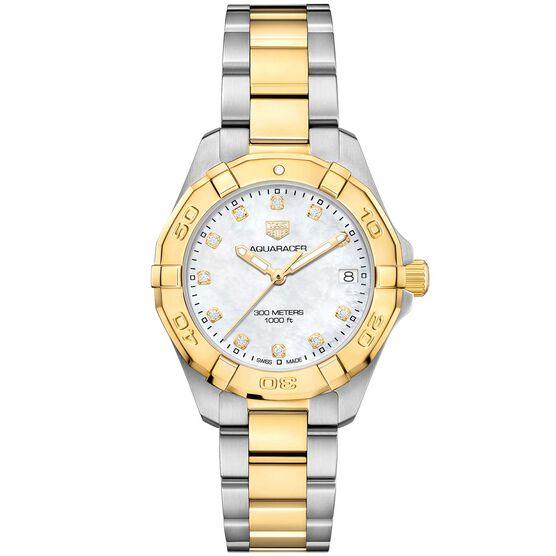 TAG Heuer Aquaracer Steel & 18K Diamond Quartz Watch