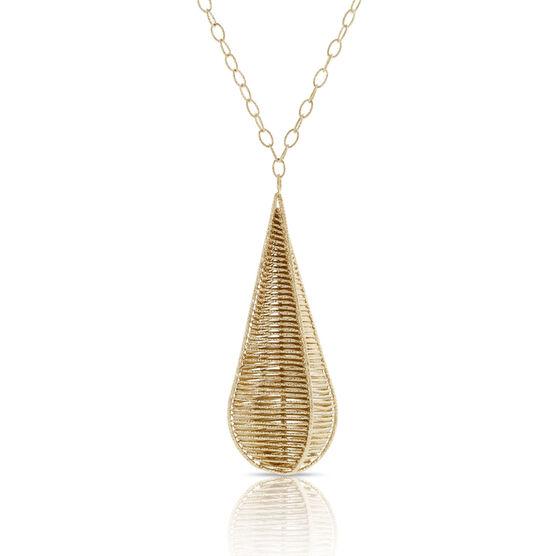 Toscano Webbed Drop Necklace 18K