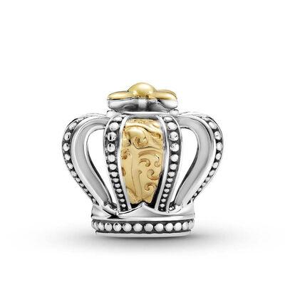 Pandora Two-tone Regal Crown Charm, 14K & Silver