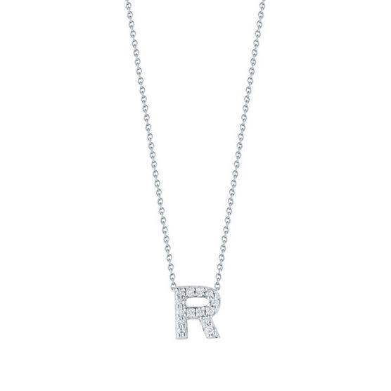 Roberto Coin Tiny Treasures Diamond Initial Pendant 18K Letter 'R'