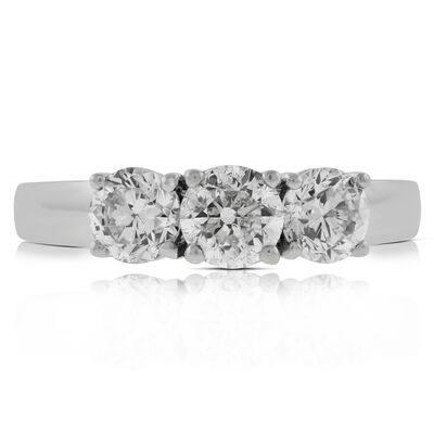 Diamond 3-Stone Band 14K, 1.5 ctw.