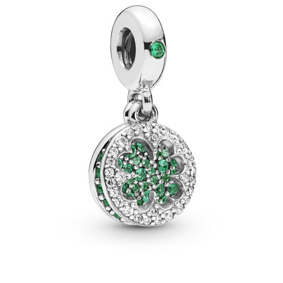 Pandora Dazzling Clover Crystal & CZ Dangle Charm