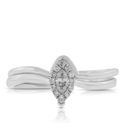 Diamond Marquise Halo Bridal Set 14K