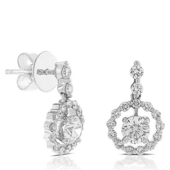 Signature Forevermark Swinging Diamond Circle Earrings 18K