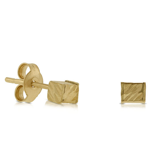 Cube Earrings 14K