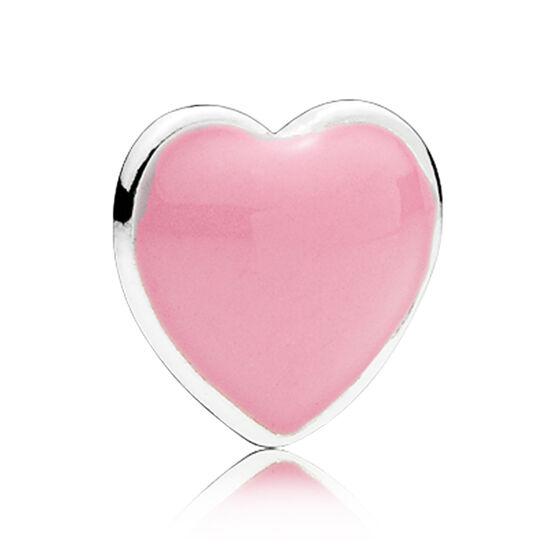 PANDORA Enamel  Pink Heart Petite Charm