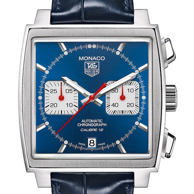 TAG Heuer Monaco Caliber 12 Automatic Chronograph Watch, 39mm