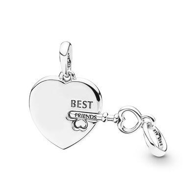 Pandora Best Friends Heart & Key Necklace Pendant