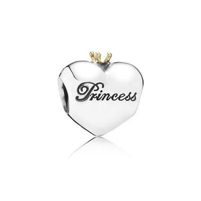 Pandora Princess Heart Charm, Silver & 14K