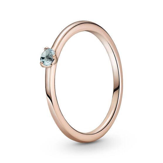 Pandora Rose™ Light Blue Solitaire CZ Ring