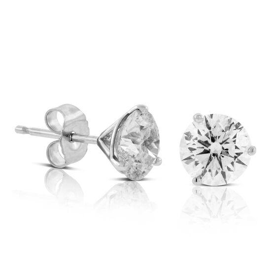 Ikuma Canadian Diamond Solitaire Earrings 14K, 2 ctw.