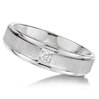 Men's ArtCarved Diamond Band 14K