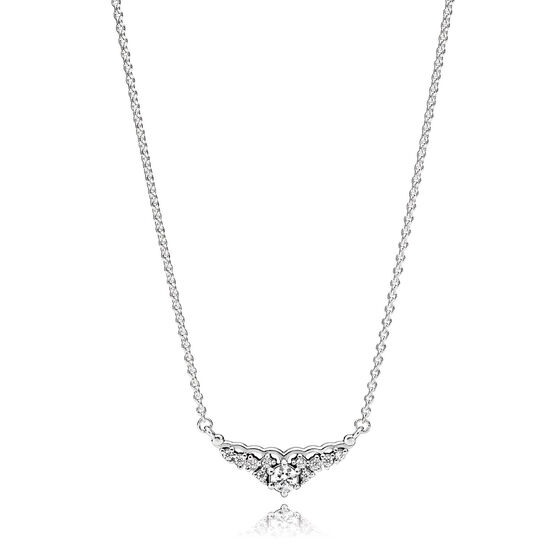 PANDORA Fairytale Tiara CZ Necklace