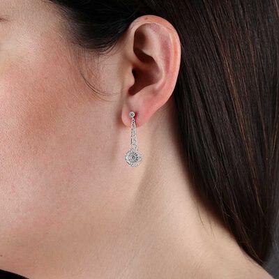Dangle Diamond Earrings 14K