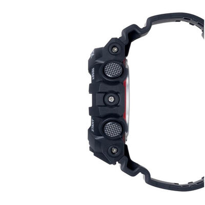 G-Shock Black Strap Red Detailed Watch, 57.5mm