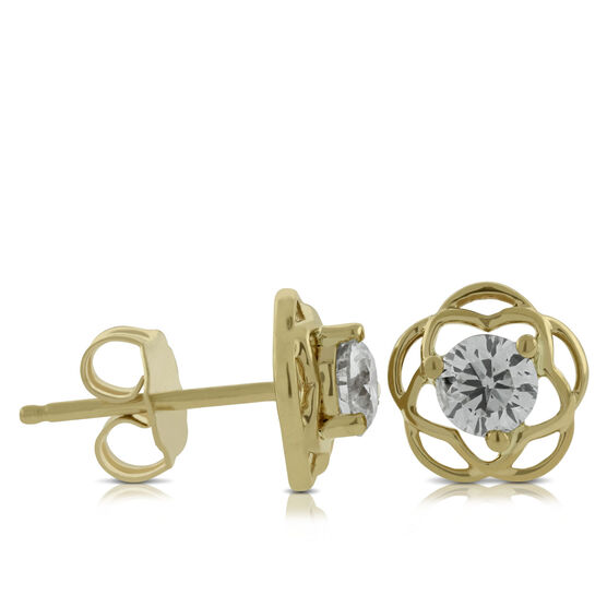 Ikuma Canadian Diamond Flower Earrings 14K