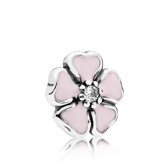 PANDORA Petite Locket Cherry Blossom Enamel & CZ Charm