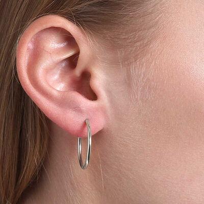 Smooth Hoop Earrings 14K