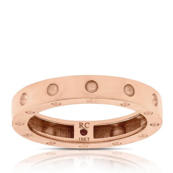 Rose Gold Roberto Coin Poi Moi Ring 18K