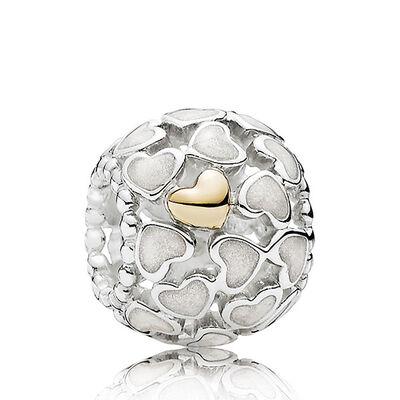 PANDORA Abundance of Love Charm, Silver & 14K