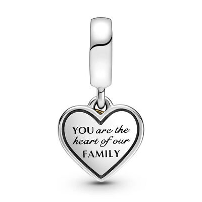 Pandora Two-tone Family Tree & Heart Dangle Charm, 14K & Silver