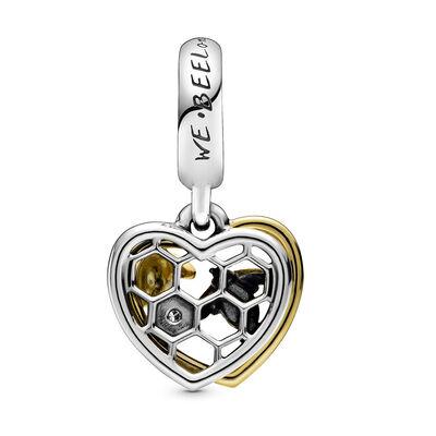 Pandora Shine™ Hearts & Bees Enamel & CZ Dangle Charm