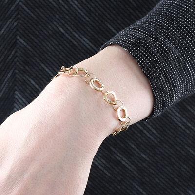 Toscano Circle Drop Bracelet 14K