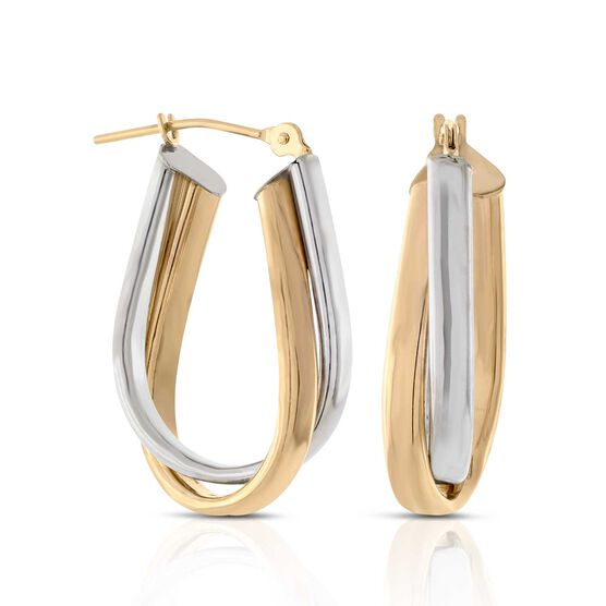 Double Hoop Earrings 14K