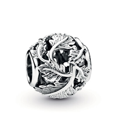 Pandora Wonderland Openwork Leaves Charm