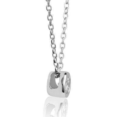 Bezel Set Diamond Necklace 14K, 1/10 ct.