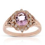 Rose Gold Morganite & Diamond Ring 14K
