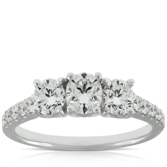 Signature Forevermark Black Label 3-Stone Oval Diamond Ring 18K