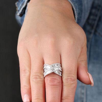 Criss Cross Diamond Ring 18K