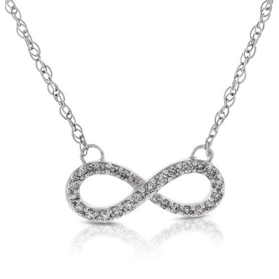 Diamond Infinity Necklace 14K