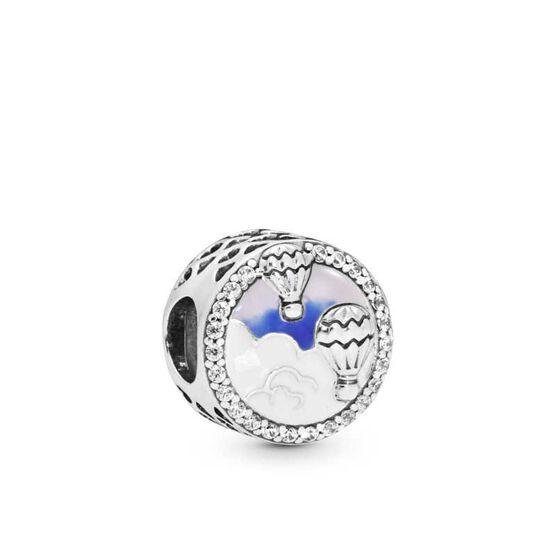 Pandora Hot Air Balloon Trip Enamel & CZ Charm