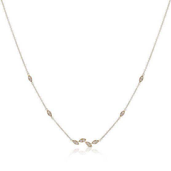 Marquise Shapes Diamond Necklace 14K