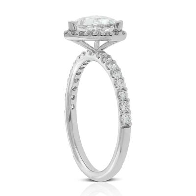 Trillion Diamond Ring 14K, 1 ct. Center
