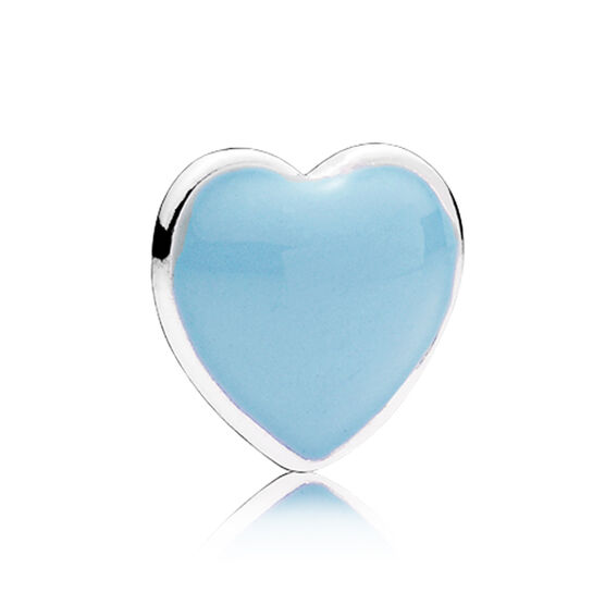 PANDORA Enamel Blue Heart Petite Locket Charm