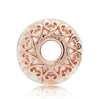 Pandora Rose™ Iridescent White Murano Glass Charm