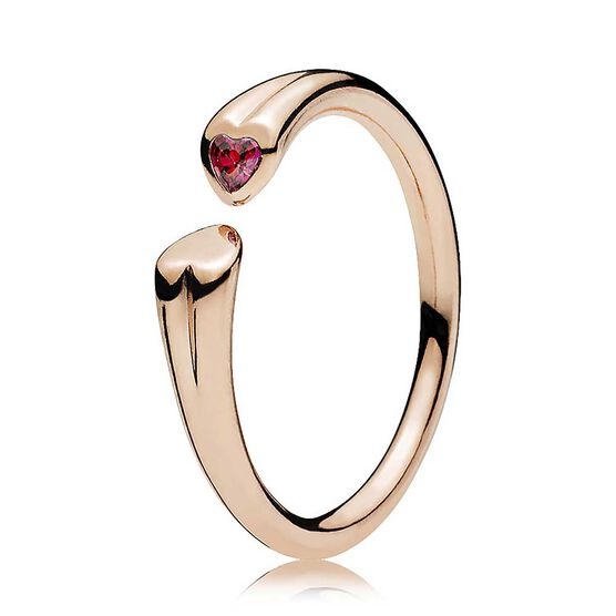 Pandora Rose™ Two Hearts Red CZ Ring