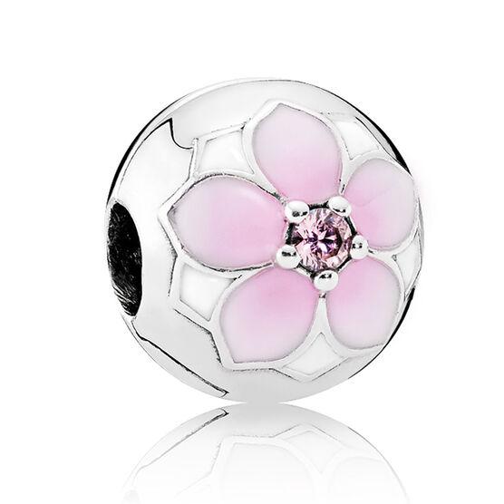Pandora Magnolia Bloom Enamel & CZ Clip