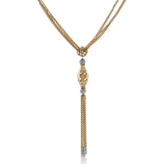 Toscano Tassel Necklace 14K
