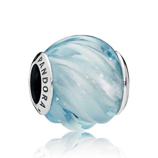 Pandora Blue Ripples Crystal Charm