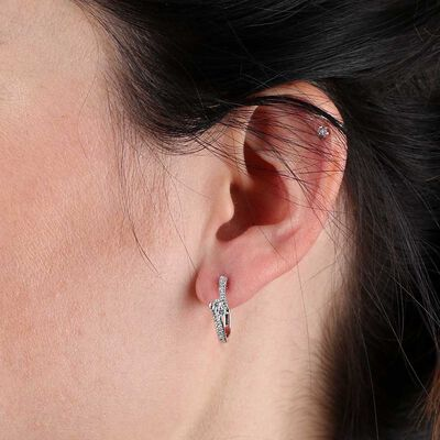 Perfectly Paired Diamond Earrings 14K