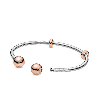 Pandora Rose™ Pandora Snake Chain Style Open Bangle