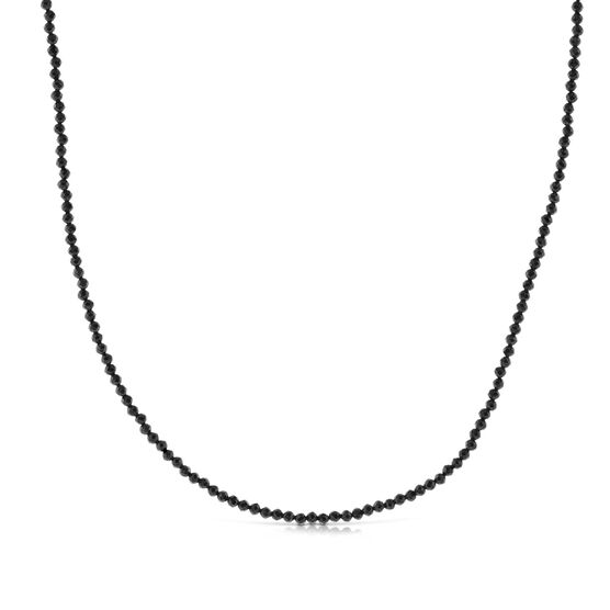 Lisa Bridge Black Spinel Bead Necklace