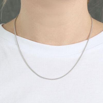 "Round Wheat Chain in Silver, 18"""